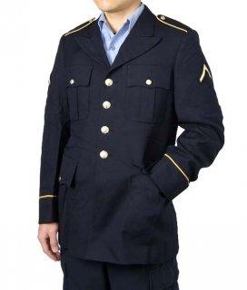 アメリカ陸軍 U.S.ARMY 階級章付 ブラック ドレスジャケット(USED)A80UW