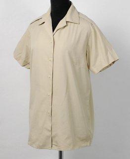 イギリス軍、レディース、カーキ、半袖ドレスシャツ(USED)B15U−LDY-