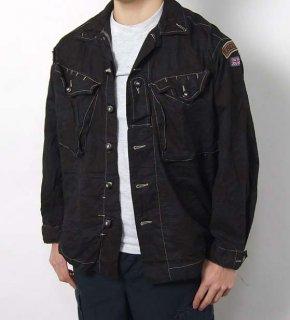 イギリス軍 DPM デザートカモ ブラック後染め ワッペン付 ファティーグシャツ(USED)B40UBW=
