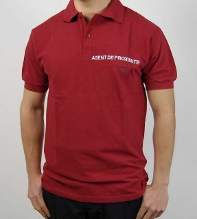 フランス、AGENT DE PROXIMITE ポロシャツ(新品)F66N=