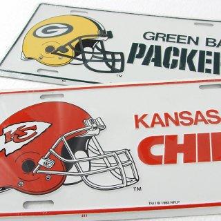 NFL アメリカンフットボール ライセンスプレート(新品)33-49