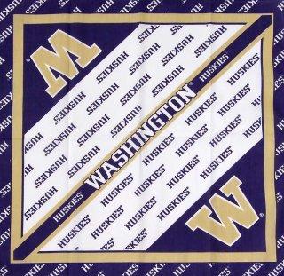 ワシントン大学、カレッジバンダナ(新品)286