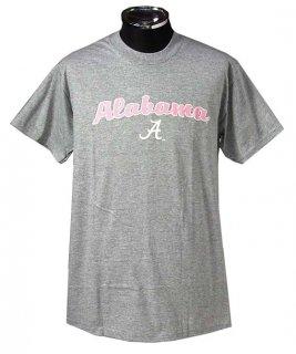 アラバマ大学 グレー&ピンク カレッジTシャツ(新品)COL18-