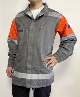 チェコ軍 民間防衛 グレー&オレンジショルダー フィールドジャケット(新品)E95N