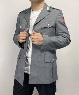 ドイツ陸軍 ARMY グレー ドレスジャケット ワッペン付(新品)G31NW