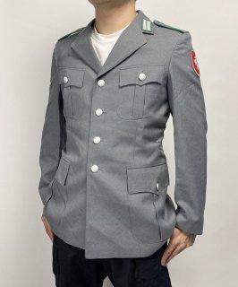 ドイツ陸軍 ARMY グレー ドレスジャケット ワッペン付(USED)G31UW