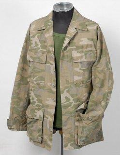 EU グリーンブラウンカモ コンバットジャケット(USED)E105U=