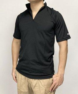 【ビッグ&スモール特価】イギリス警察 POLICE ブラック ハーフZIPシャツ(新品)B69N-