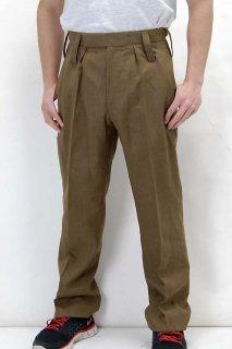 イギリス陸軍 ARMY カーキ ウール100% No.2 バラック ドレスパンツ(USED)206U-WOOL