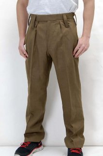 イギリス陸軍 ARMY ブラウン ウール100% No.2 バラック ドレスパンツ(新品)206N-WOOL