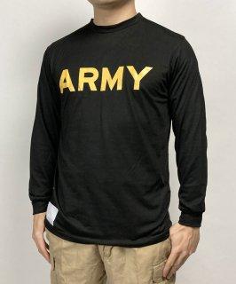 アメリカ軍 U.S.ARMY ブラック APFU トレーニング 長袖Tシャツ(新品)T45BLN-