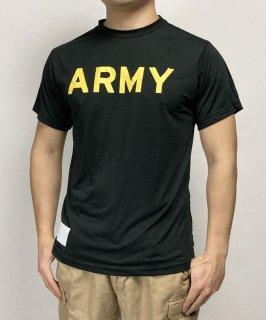 アメリカ軍 U.S.ARMY ブラック APFU トレーニングTシャツ(新品)T45BN-
