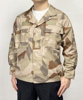 スウェーデン軍 デザートカモ M-90 フィールドシャツ(新品)W12DN