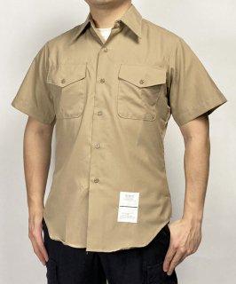 アメリカ海兵隊 USMC カーキ リメイク 半袖ドレスシャツ(新品)MC-LS-NH-