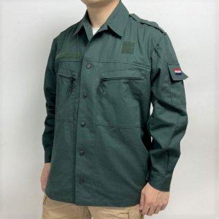 オランダ軍 グリーン ワッペン付 フィールドジャケット(USED)D31U=