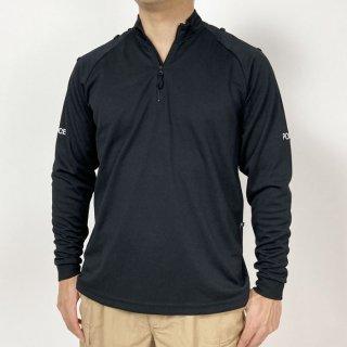 イギリス警察 POLICE ブラック 長袖ハーフZIPシャツ(新品)B69LN-