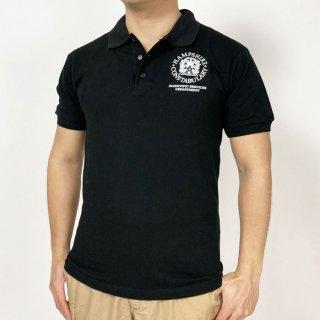 イギリス警察 POLICE ハンプシャー ブラック 半袖&長袖ポロシャツ(新品)B86N=