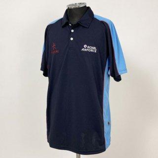 【1点物】イギリス空軍 RAF ネイビー&ライトブルー KUKRI ポロシャツ(新品)UK56-