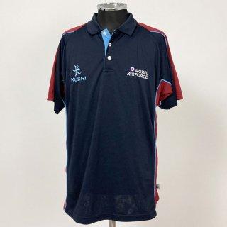 【1点物】イギリス空軍 RAF ネイビー&レッド KUKRI ポロシャツ(USED)UK57-