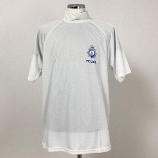 イギリス・ハートフォードシャー州警察 POLICE ホワイト ドライTシャツ(USED)T79U-WH-