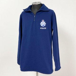 【1点物】イギリス・ハートフォードシャー州警察 POLICE ブルー プルオーバーフリースジャケット(新品)UK61