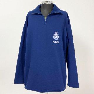 【1点物】イギリス・ハートフォードシャー州警察 POLICE ブルー POLARTEC プルオーバーフリースジャケット(新品)UK62