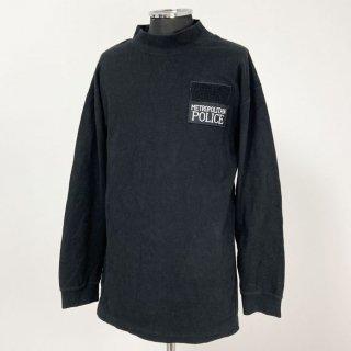 【1点物】イギリス・ロンドン警察 POLICE ブラック スウェットシャツ(USED)UK63