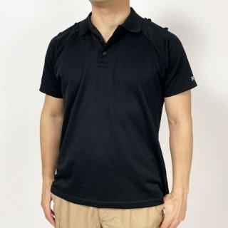 イギリス警察 POLICE ブラック レディース 半袖ポロシャツ(USED)B69UP-LDY-