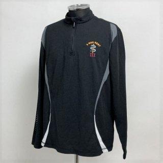 【1点物】イギリス陸軍 ARMY 3 MED REGT ブラック ハーフZIP トレーニングシャツ(USED)UK30=