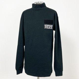 イギリス・ロンドン警察 METROPOLITAN POLICE ブラック スウェットシャツ(新品)B85BN