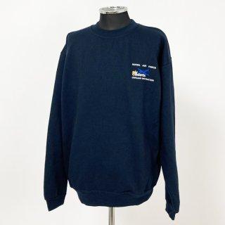 【1点物・3種類】イギリス軍関連 ネイビー スウェットシャツ(ニアニュー)B85N2