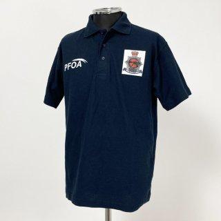 【1点物】イギリス軍関連 ネイビー ポロシャツ(新品)B87N-NAVY