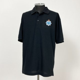 イギリス軍関連 ブラック ポロシャツ(新品)B87N-BLACK
