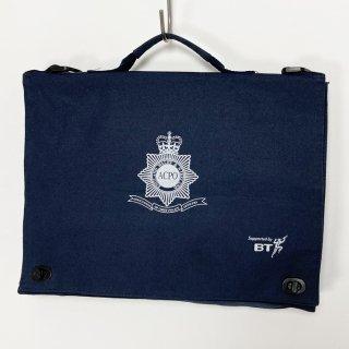【1点物】イギリス警察幹部学校 ACPO ネイビー ドキュメントバッグ(ニアニュー)UK7
