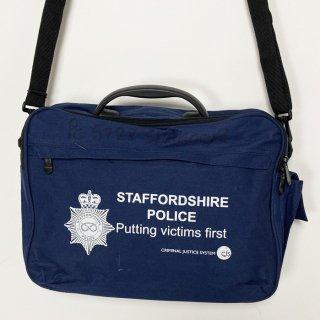 【1点物】イギリス・スタッフォードシャー警察 ネイビー ビジネスバッグ(USED)UK6