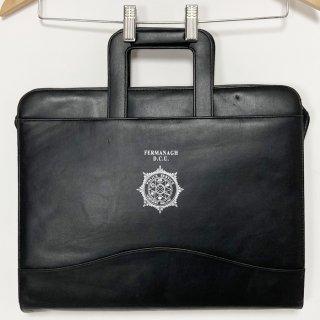 【1点物】北アイルランド警察 ブラック レザー ドキュメントバッグ(ニアニュー)UK5