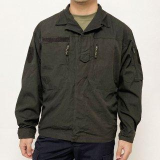 オーストリア軍 ブラック後染め リップストップ コンバットジャケット(USED)E90KUB=