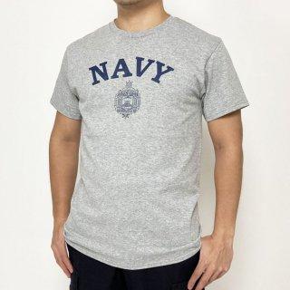 アメリカ海軍兵学校 U.S.N.A. オックスフォードグレー SOFFE&DELTA ミリタリーTシャツ(新品)T39NN-