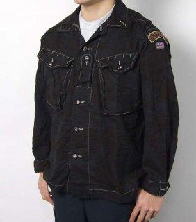 【ビッグ特価】イギリス軍 DPM デザートカモ ブラック後染め ワッペン付 ファティーグシャツ(新品)B40NBW-SB=