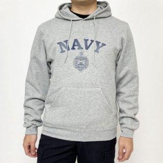 アメリカ海軍兵学校 U.S.N.A. グレー SOFFE フード付きスウェットシャツ(ニアニュー)USSW56NN2