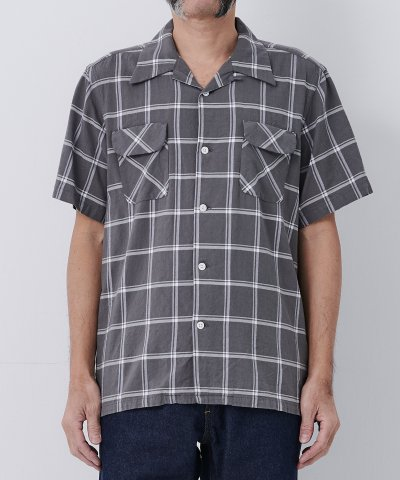 necessary or unnecessary/N.O.UN(ナウン)OPEN SHIRTS 'CHECK'