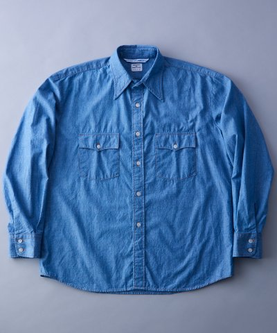 <img class='new_mark_img1' src='https://img.shop-pro.jp/img/new/icons1.gif' style='border:none;display:inline;margin:0px;padding:0px;width:auto;' />W/W SHIRTS 'CHAMBRAY'