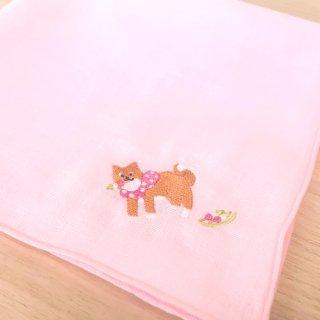 刺繍ハンカチ(いぬお団子)