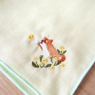 刺繍ハンカチ(いぬたんぽぽ)