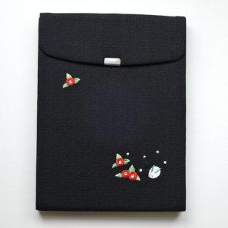 おはりこ刺繍 iPadケース/黒