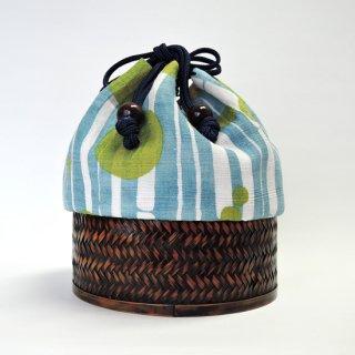 京のアサゴロモ かご巾着【水竹】