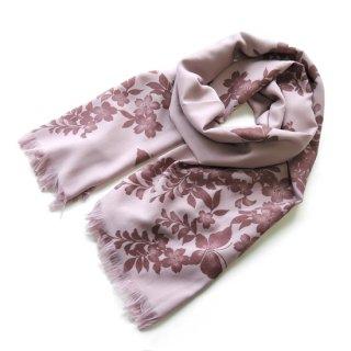 花紫翠−はなしすい− ストール【花と蝶 / ピンク】
