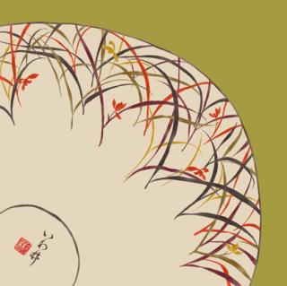 HANA宴 シルクスカーフ 陶器 / 抹茶