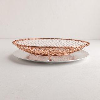 辻和金網 手編み水切り皿セット 銅