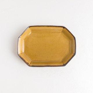 阿部春弥 黄磁八角長方形